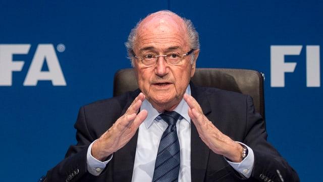 Blatter bei der Medienkonferenz