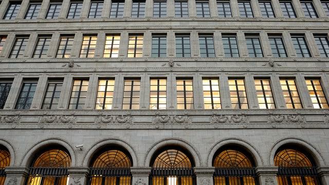 Fassade Schweizerische Nationalbank.