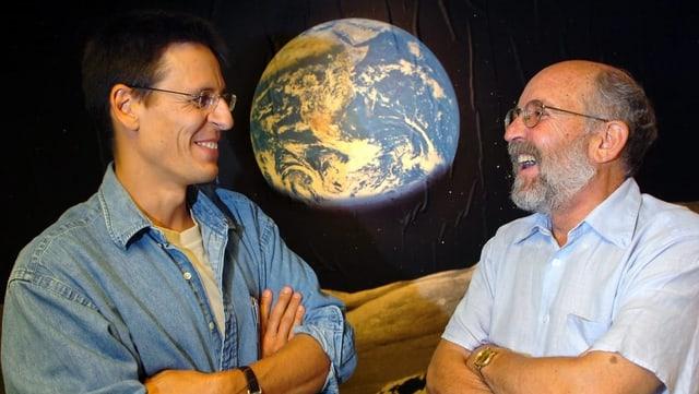 Die Schweizer Astronomen Didier Queloz und Michel Mayor