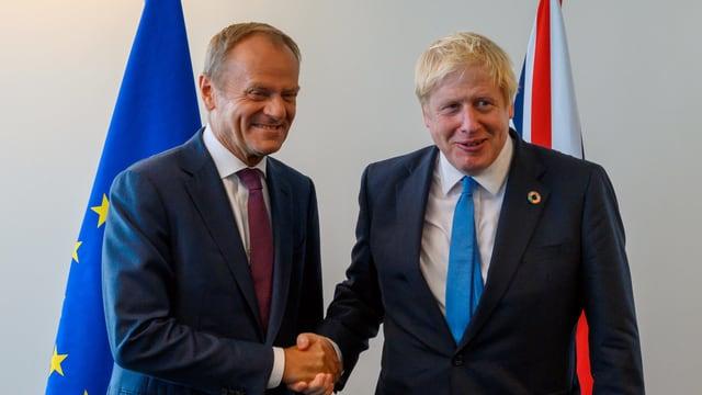Donald Tusk und Boris Johnson