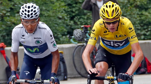 Quintana (links) oder Froome