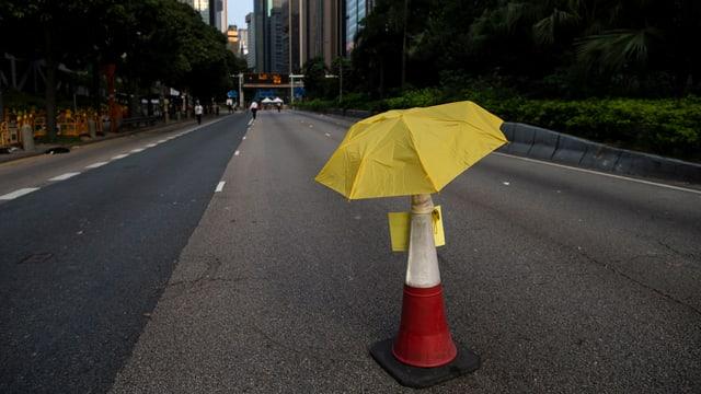 leere Strasse in Hongkong