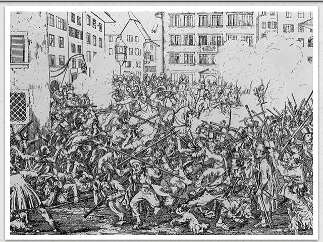 Schlacht beim Züriputsch 1839.