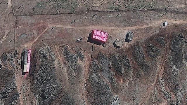 Satellitenbild von der iranischen Militäranlage in Parchin.
