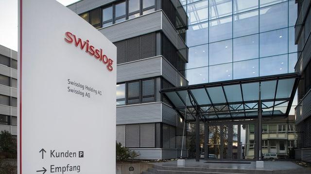 Der Haupteingang des Logistikunternehmens Swisslog in Buchs AG.
