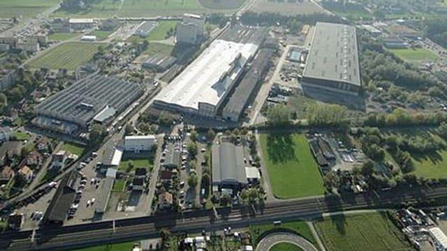 Luftaufnahme Areal der Ferrowohlen