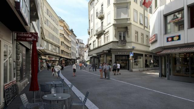 Mögliche Neugestaltung einer Strasse in der Altstadt von Luzern.