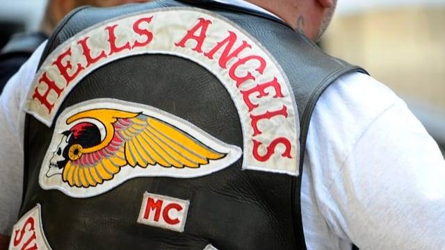 Biker in Hells Angels-Jacke