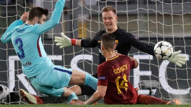Il goli da Barcelona Marc-Andre ter Stegen ha stuì laschar far 3 gols.