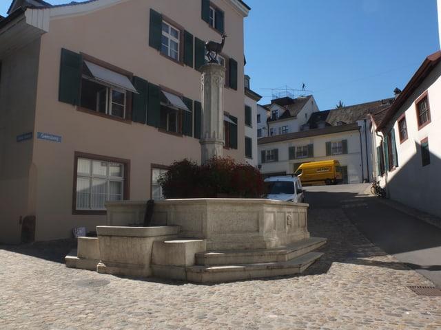 Gemsbergbrunnen am Gemsberg.