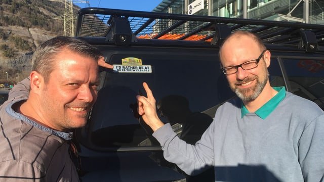 Remo Hosig (a dretga) e Stefan Honegger e lur finamira.