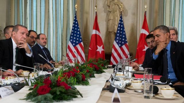 il president tirc Erdogan ed il president american Obama ad in inscunter il december a Paris.