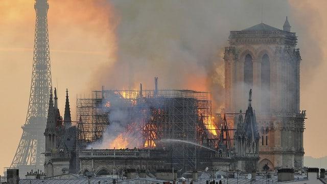 Die Kathedrale Notre-Dame de Paris war am 15. April 2019 durch einen Grossbrand stark beschädigt worden. Dach und Mittelturm des gotischen Meisterwerks wurde zerstört.