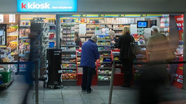 In kiosk en la citad da Berna.