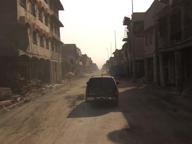 Strasse in Mosul.