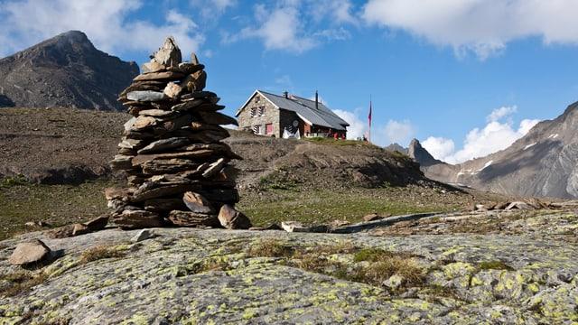Eine SAC-Hütte im Kanton Glarus