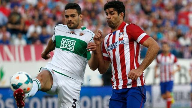 Diego Costa (rechts) und Atletico Madrid.