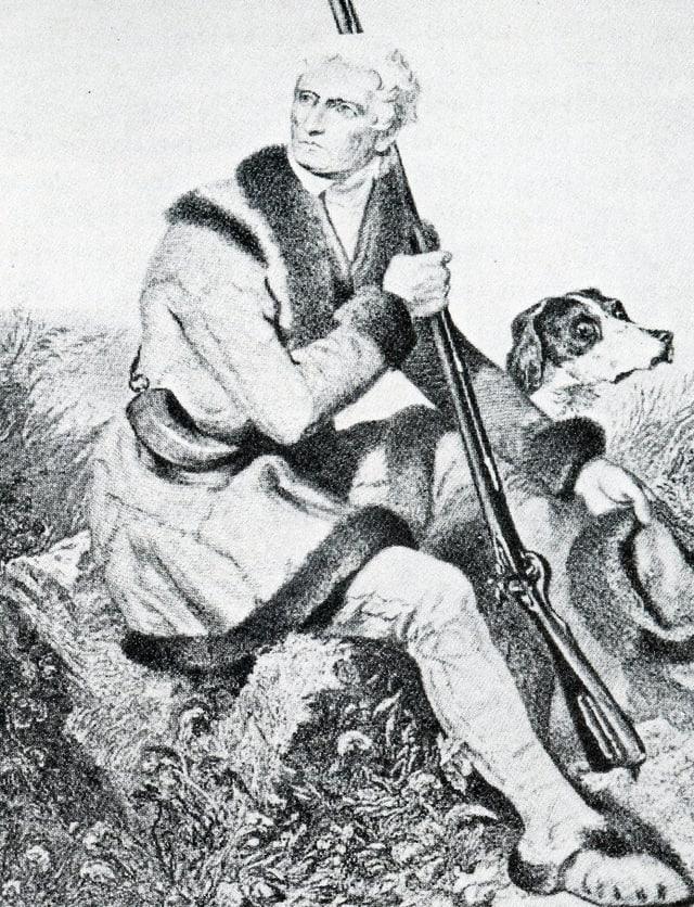"""Um da la frontiera"" dil Kentucky Daniel Boone (1734-1820)"