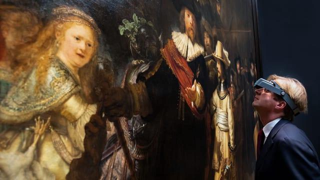 Der Direktor des Rijksmuseum Amsterdam Taco Dibbits vor Rembrandts «Nachtwache»