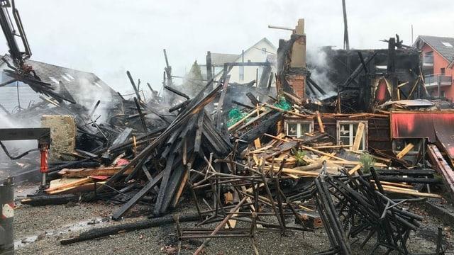 Abgebranntes Bauernhaus