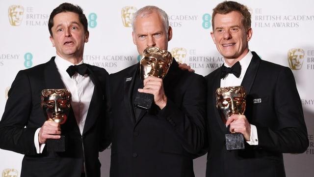 Pete Czernin, Martin McDonagh und Grahm Broadbent.