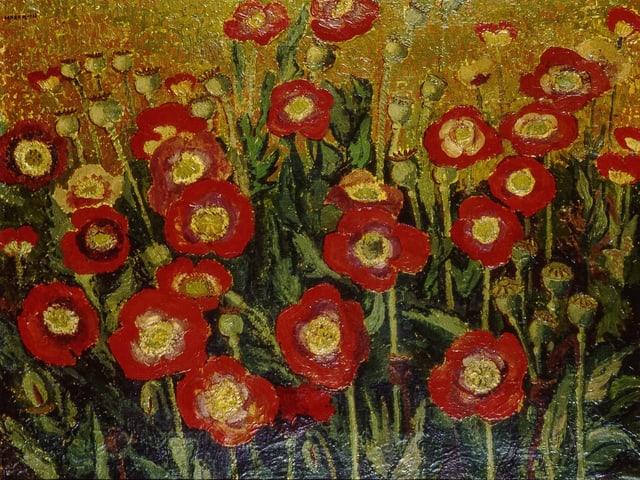 Gemäle mit roten Mohnblumen