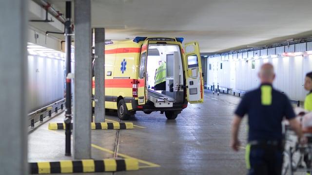 Entrada per cas d'urgenza en in spital svizzer.