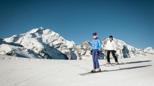 Dus skiuns sin la Diavolezza.
