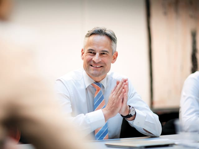 Matthias Michel ist die geplante englischsprachige Lehrlingsausildung ein grosses Anliegen.