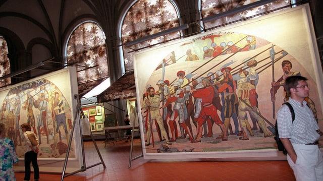 Die Schlacht bei Marignano von Ferdinand Hodler, zu sehen im Schweizer Landesmuseum