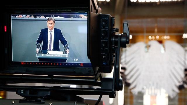 AfD-Mann Baumann spricht im Bundestag