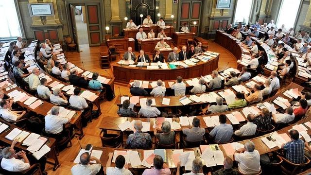 Das Katholische Kollegium des Kantons St. Gallen im Ratssaal.