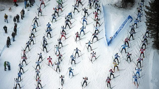 Purtret dal maraton da skis Engiadina.
