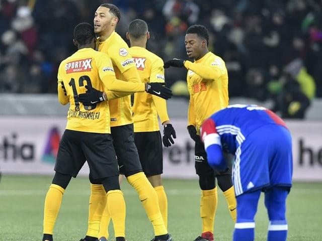 YB gewann das letzte Cup-Duell gegen den FCB.