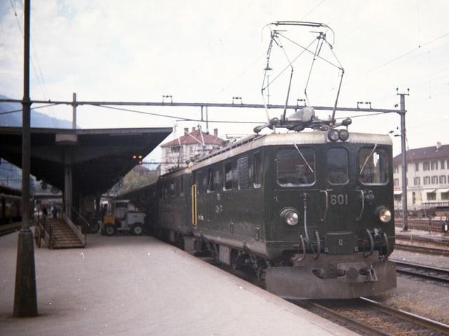Fotografia da la locomotiva 601 da la Viafier retica