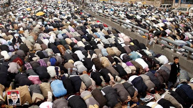 Betende Muslim-Brüder.
