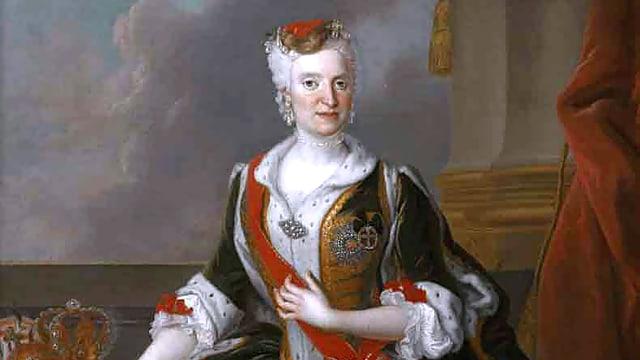 Maria Josepha, Kurfürstin von Sachsen, portraitiert vom Maler Louis de Silvestre.