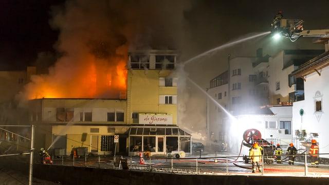 Brand im Posthotel in Arosa