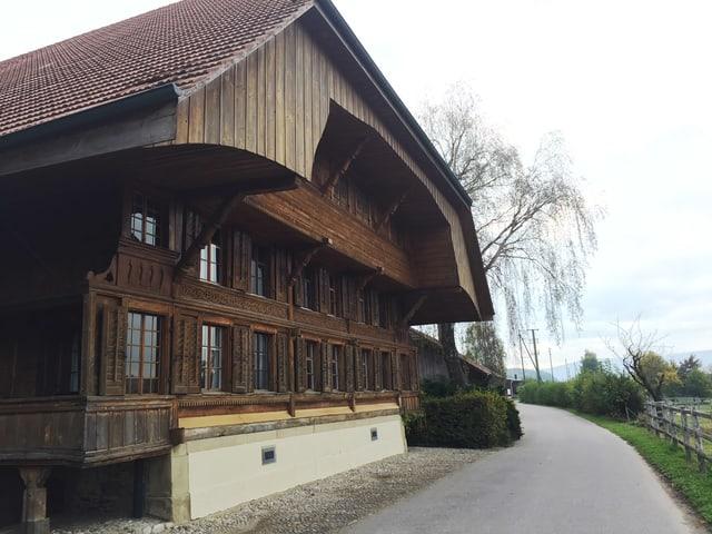 Altes Bauernhaus, Vorderansicht.