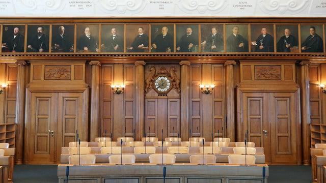 Leerer Kantonsratssaal AR