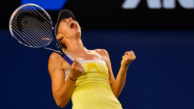 Maria Scharapowa hat unangefochten die Halbfinals im Melbourne erreicht.