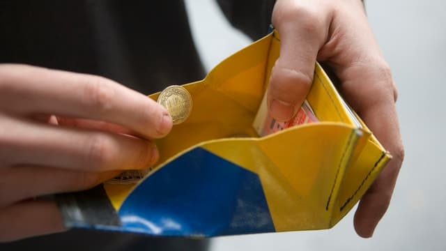 offenes Portemonnaie