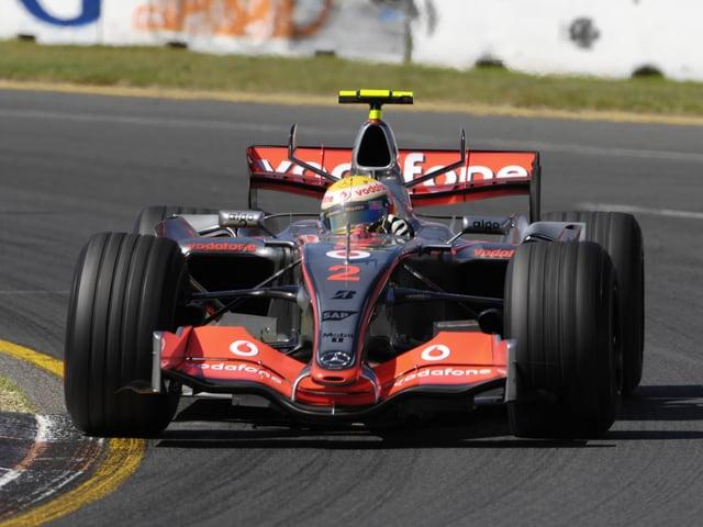 Lewis Hamilton steigt 2007 in die Formel 1 ein.