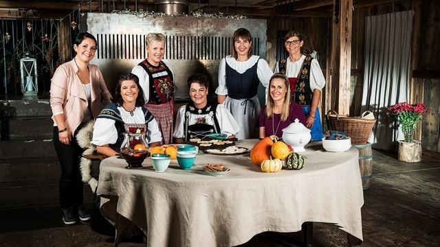 Die 7 Teilnehmerinner der 12. Staffel Landfrauenküche