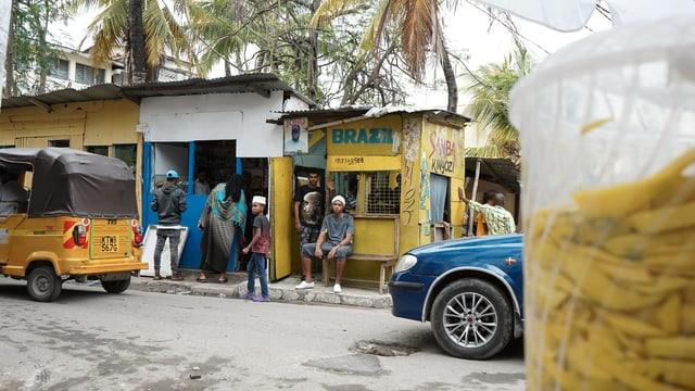 Strassenszene in Mombasa