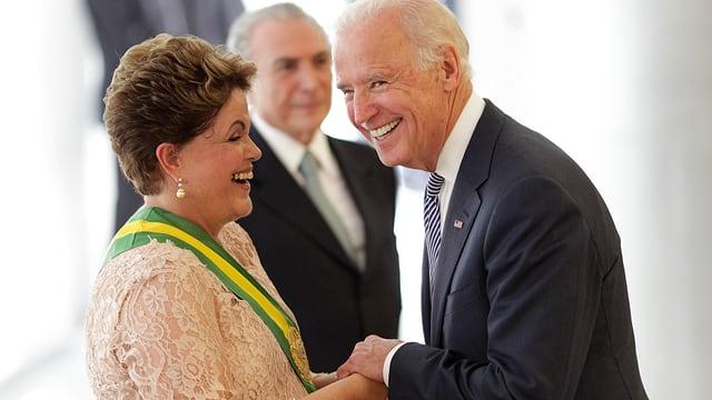 Brasiliens Staatschefin Dilma Rousseff und US-Vizepräsident Joe Biden.