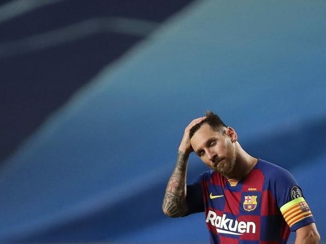 Lionel Messi während dem Spiel gegen die Bayern.