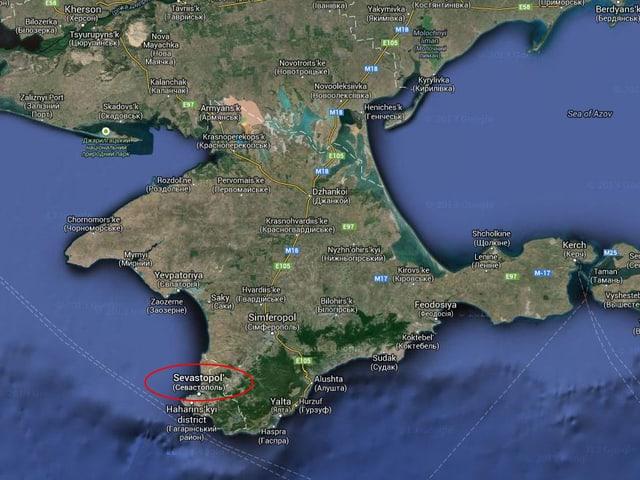 Karte der Krim.