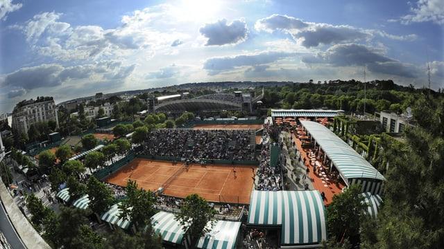 Die Tennisanlage in Roland Garros.