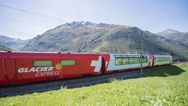 In tren dal Glacier Express.